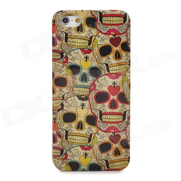 Stylish Cartton Skull Pattern Plastic Back Case for Iphone 5 - Multicolor
