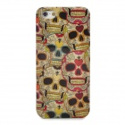 Neutral Stylish Cartton Skull Pattern Plastic Back Case for Iphone 5 - Multicolor