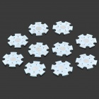 Universal DIY 1W 3W Lamp Bead Heat Dissipation Aluminum Panel - Silver (10 PCS)