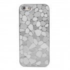 Irregular Marble Style Protective Plastic Back Case for Iphone 5 - Silver
