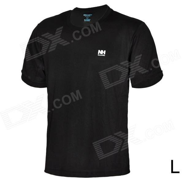 Naturehike-NH BD01-M Men's Quick-Drying Round Neck Short T-Shirt - Black (Size L)