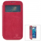 NILLKIN Stylish Protective PU Leather Case for Samsung Galaxy S4 i9500 - Wine Red