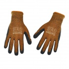 Galilee pncg 100177 Protective Nylon + Rubber Gardening Gloves - Black + Yellowish-Brown