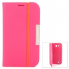 NILLKIN Protective PU Leather Case for Samsung Galaxy Grand i879 - Deep Pink