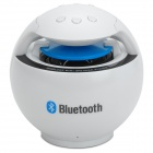 Rechargeable 2-Channel Bluetooth v2.0 Speaker w/ TF - White + Black + Blue