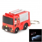 Creative Fire Truck Style LED Light Sound Keychain - Red + Black + Grey