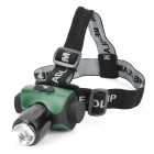 LZZ-6403 CREE XP-E Q5 1000mA 200lm 3-Mode White LED Headlamp - Black + Green (1 x 18650)