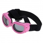 Pet Dog Outdoor Eye Protection Glasses - Pink + Black