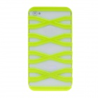 Stylish Hollowed-Out X Ladder Style PC Case For Iphone 4 / 4S - Fluorescent Green