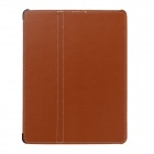 Protective PU Leather for iPad 2 / 3 / 4 - Brown + Black + Grey