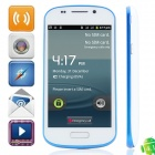 "S9 Android 4.1.1 GSM Bar Phone w/ 4.0"" Capacitive Screen, Quad-Band and Wi-Fi - White + Blue"