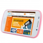 "S9 Android 4.1.1 GSM Bar Phone w/ 4.0"" Capacitive Screen, Quad-Band and Wi-Fi - White + Pink"