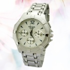 Fashionable Men's Steel Alloy Analog Quartz Wrist Watch - Silver + Grey (1 x SR6265W)