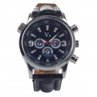 Super Speed V0088 Fashion Men's Analog Quartz Watch - Black + Silver + White + Blue (1 x LR626)