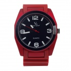 Super Speed V0107 Fashionable Men's Analog Quartz Wrist Watch - Red + Black + White (1 x LR626)