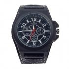 Super Speed V6 V0160 Fashionable Men's Quartz Watch - Black + White ( 1 x LR626)