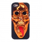 3D Skeleton Protective Silicone Back Case for Iphone 5 - Orange + Black + Red