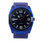 Super Speed V0107 Fashionable Men's Analog Quartz Wrist Watch - Blue + Black + White (1 x LR626)