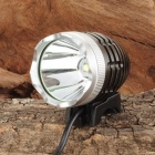 SL-2013 Cree XM-L T6 900lm 4-Mode White Bicycle Light & Headlight - Dark Brown + Silver (4 x 18650)