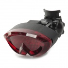 7-Mode 5-LED Bycicle Bick Cycling Tail Lamp - Red + Black