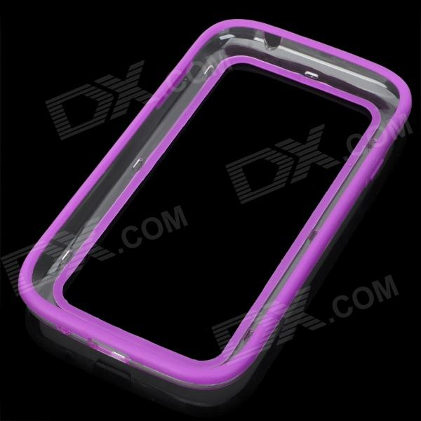 Vser Protective Plastic Bumper Frame for Samsung Galaxy Grand Duos i9082 - Purple + Transparent
