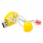 Cute Flip Flops Style USB Flash Disk - Yellow + White (8 GB)