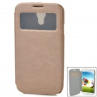 NILLKIN Protective PU Leather + Plastic Flip-Open Case for Samsung Galaxy S4 / i9500 - Light Brown