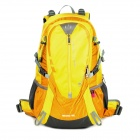 HASKY CY-2320-4 Outdoor Mountaineering Hiking Nylon Backpack - Yellow + Grey (40L)