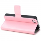 Stylish Protective PU Leather Case for Iphone 4 / 4S - Pink