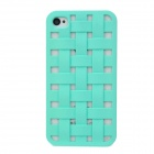 NEWTOP Ultrathin Hollow Out Woven Style Protective Plastic Back Case for Iphone 4 / 4S - Green