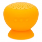 LYV-30 Novelty Cute Round Bluetooth V3.0 2CH Stereo Loudspeaker w/ Suction Cup - Orange