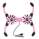 Octopus JLK-004 Super Mini Notebook Fan - Fuchsia + Black