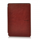 "Ultra-thin Protective PU Leather Case for 6"" Kindle 4 - Brown"