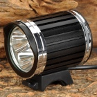 NEW-336 Cree XM-L T6 1400lm 4-Mode 3-LED White Bike Headlight w/ Batteries Pack - Black + Silver