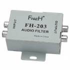 FH203 Car Vehicle Amplifier Noise Audio Filter - Silver Grey
