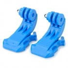 HR73-BL JJ Quick Release Buckle for Gopro 3 / 3+ / 2 / 1 / SJ4000 - Blue (2 PCS)