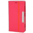 NILLKIN Protective Flip Open Style PU Leather Case for Nokia Lumia 720 - Deep Pink + Orange