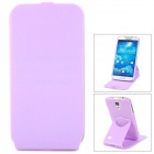 Protective Flip-Open 360 Degree Rotation Case for Samsung Galaxy S4 i9500 - Purple