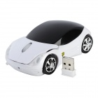 Car Style 2.4GHz Wireless 1000dpi Optical Mouse - White + Black