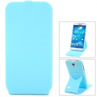 Protective Flip-Open 360 Degree Rotation Case for Samsung Galaxy S4 i9500 - Blue