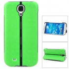 Unique Folding Stand Holder Protective Case for Samsung Galaxy S4 i9500 - Green + Black