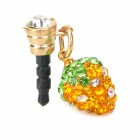 Universal Strawberry Style Audio Jack Anti-Dust Plug for iPhone / Samsung / HTC - Orange + Green