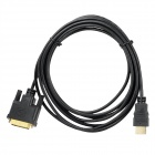 DVIMale  to HDMI 1.4 Male Digital HD Connection Cable - Black + Golden