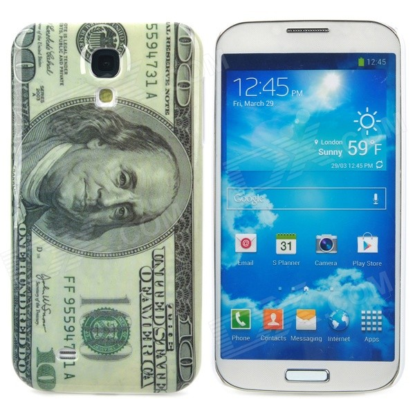 US 100 Dollar Bill Style Protective Plastic Back Case for Samsung Galaxy S4 i9500 - Grey + Beige samsung j2 prime sm g532f ds 4g 8gb gold