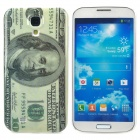 US 100 Dollar Bill Style Protective Plastic Back Case for Samsung Galaxy S4 i9500 - Grey + Beige