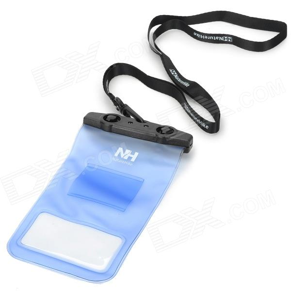Naturehike-NH FSD0001 Waterproof Protective ABS + PVC Case for Touch Screen Cellphone - Blue + Black