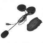 BT Bluetooth V2.0 Interphone + Handsfree Headset for Motorcycle / Skiing Helmet - Black