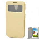NILLKIN  Fashion View Flip-Open Style PU Leather Case for Samsung Galaxy S4 i9500 - Beige