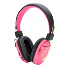 Aita AT-SD99 Stirnband Stil Stereo MP3-Player-Kopfhörer w / FM / TF - Pink + Black + Golden