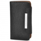 KALAIDENG Protective PU Leather Flip-Open Case w/ Strap for Sony LT26i / LT26ii - Black